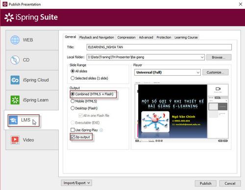 Tạo bài giảng scorm với phần mềm iSpring