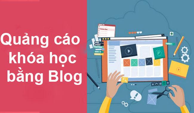 Quảng cáo khóa học bằng Blog